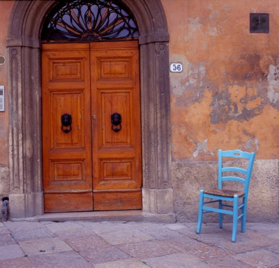 Blue Chair, Tuscany, Italy 06 – Color