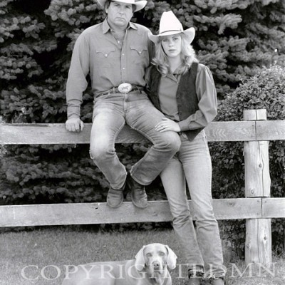 Cowboy, Cowgirl & Dog, Rothbury, Michigan
