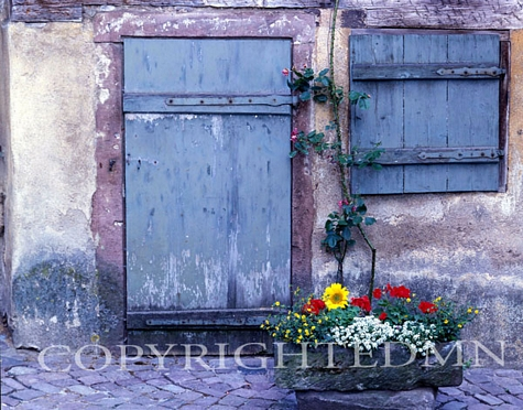 Blue Door And Window, France 99 – Color