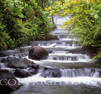 Terraced Falls, Fortuna, Costa Rica 04 – Color