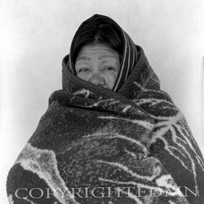 Indian Woman In Blanket, New Mexico