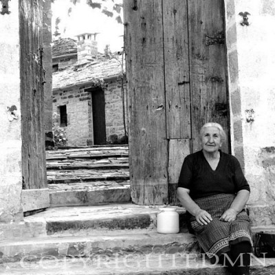 Lady On the Steps, Greece 91