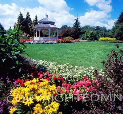 Pagoda Among The Flowers, Michigan 06 - Color