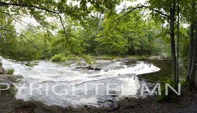 Bond Falls & Trees Panorama, Bruce Crossing, Michgan 08 - Color Pan