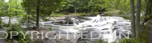 Bond Falls & Trees Panormama #1, Bruce Crossing, Michigan 08 - Color Pan