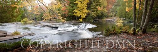 Bond Falls Panorama in Fall, Bruce Crossing, Michigan 09 - Color