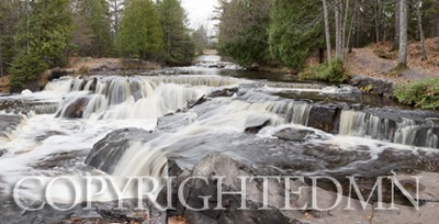 Bond Falls Panorama #2, Bruce Crossing, Michigan 10-Color Pan
