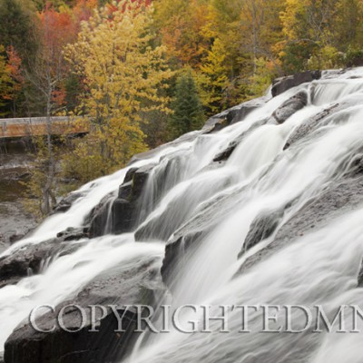 Bond Falls Cascades In Autumn - Bruce Crossing, Michigan 09 - Color