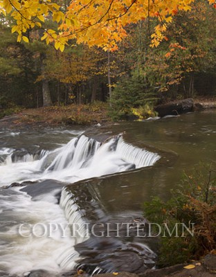 Bond Falls & Orange Leaves, Bruce Crossing, Michigan 12-color