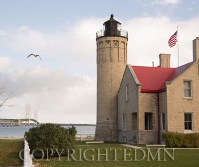 Old Mackinac Point Lighthouse, Mackinac City, Michigan 12-color
