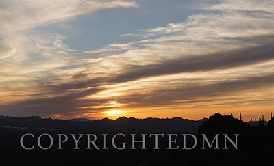 Arizona Sunset Panorama, Tucson, Arizona 14-color