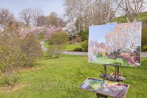 Painting in the Park, Rochester, New York 13-color