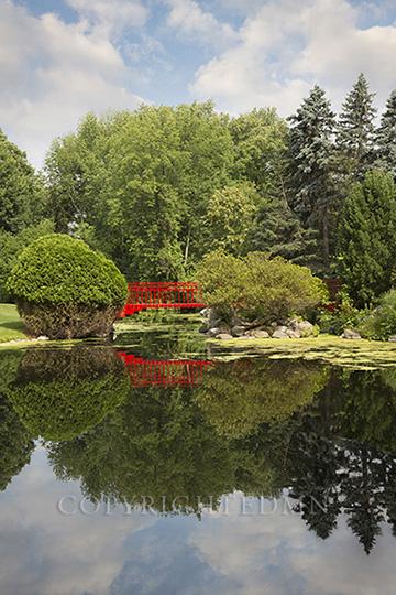 Red Bridge Reflections, Midland, Michigan 14-color