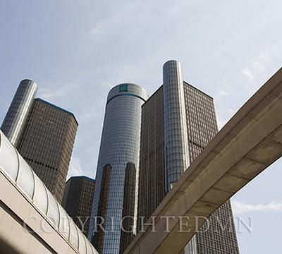 Rennaissance Center, Detroit, Michigan 14-color