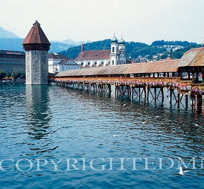 Kapellbrucke Bridge, Luzern, Switzerland