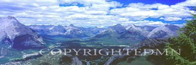 Banff Panorama, Canadian Rockies 06 - Color Pan