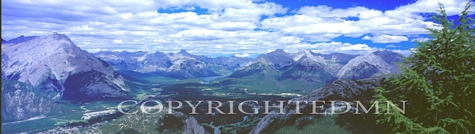 Banff Panorama, Canadian Rockies 06 - Color Pan