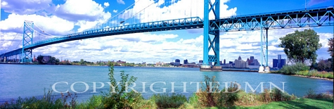 Ambassador Bridge, Michigan 06 - Color Pan