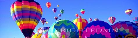 Balloons In The Sky Panorama, Albuquerque, New Mexico 06 - Color