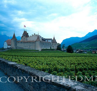 Aigle Castle, Switzerland - Color