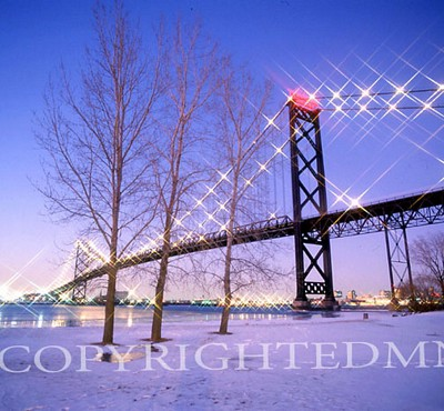 Ambassador Bridge, Detroit, Michigan - Color