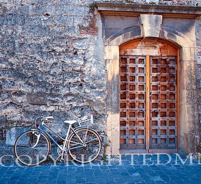 Bicycle & Door, Yverdon, Switzerland - Color