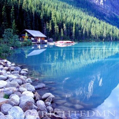 Boathouse, Lake Louise, Canadian Rockies 06 - Color