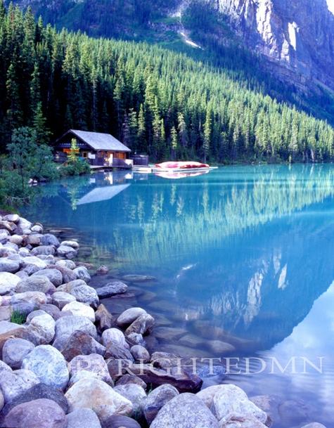 Boathouse, Lake Louise, Canadian Rockies 06 - Color