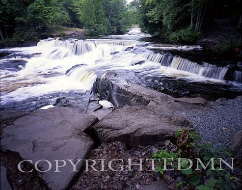 Bond Falls & Rocks, Bruce Crossing, Michigan - Color