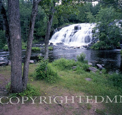 Bond Falls & Trees, Bruce Crossing, Michigan - Color