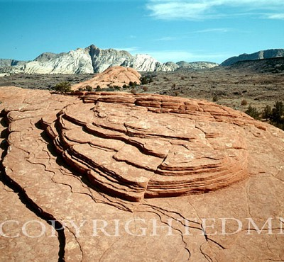 Layered Rocks, West - Color