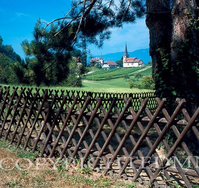 Church & Fence, Avencher, Switzerland