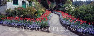 Butchart Gardens Panorama #1, Vancouver, British Columbia 07 - Color Pan