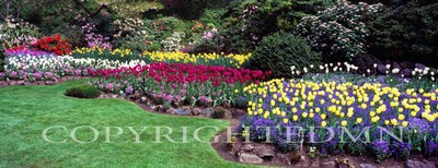 Butchart Gardens Panorama, Vancouver, British Columbia 07 - Color Pan