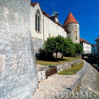 Pestalozzi Castle, Yverdon, Switzerland - Color