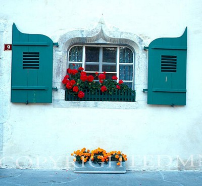 Turquoise Shutters, Lausanne, Switzerland - Color