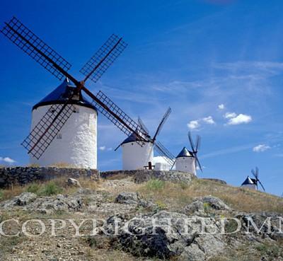 Windmills #2, Spain 97 - Color