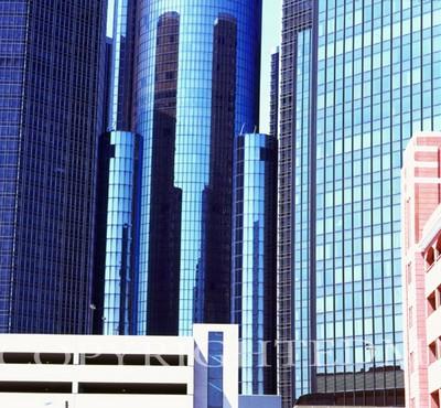 Renaissance Center #2, Detroit, Michigan 07 - color