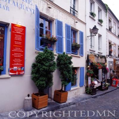 Blue Shutter, Paris, France 07 - Color