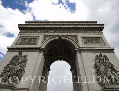 Arc de Triomphe, Paris, France 07 - Color