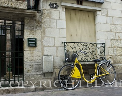 Yellow Bicycle, Tours, France 07 - Color