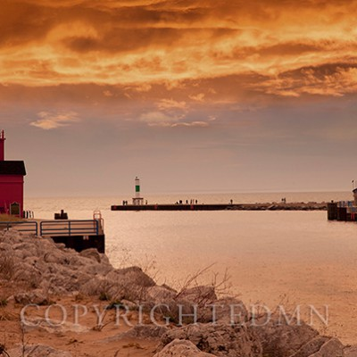 Holland Harbor Lighthouse, Holland, Michigan '13-color