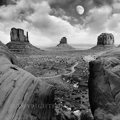 Monument Valley Moonrise, Monument Valley, Arizona '07