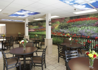 Cafeteria-in-a-nursing-home-DTE-Interiors-wall-mural