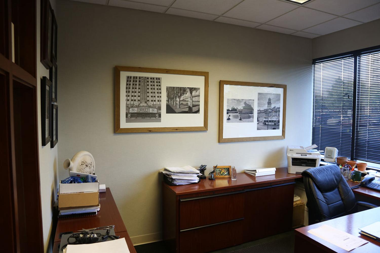 Framed Art In Office