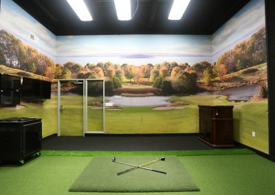 Surface-Mounted-Wall-Mural-installed-in-Golf-Simulator-Room