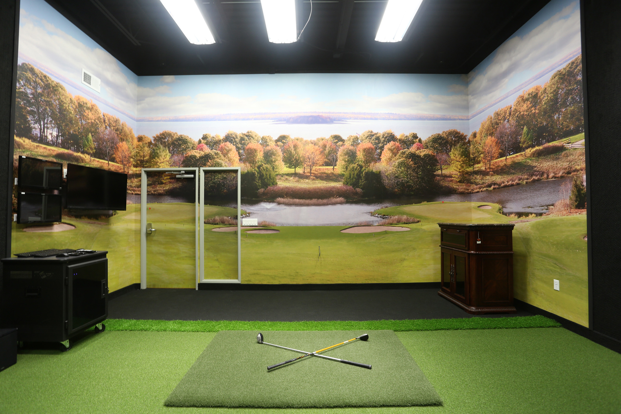 Surface Mounted Wall Mural Installed In Golf Simulator Room Fine Art Photography