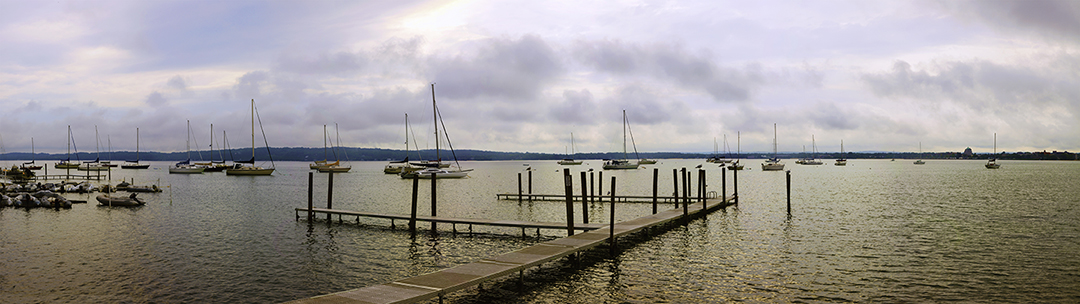 Grand Traverse Bay Panorama, Traverse City, Michigan '15-color pan