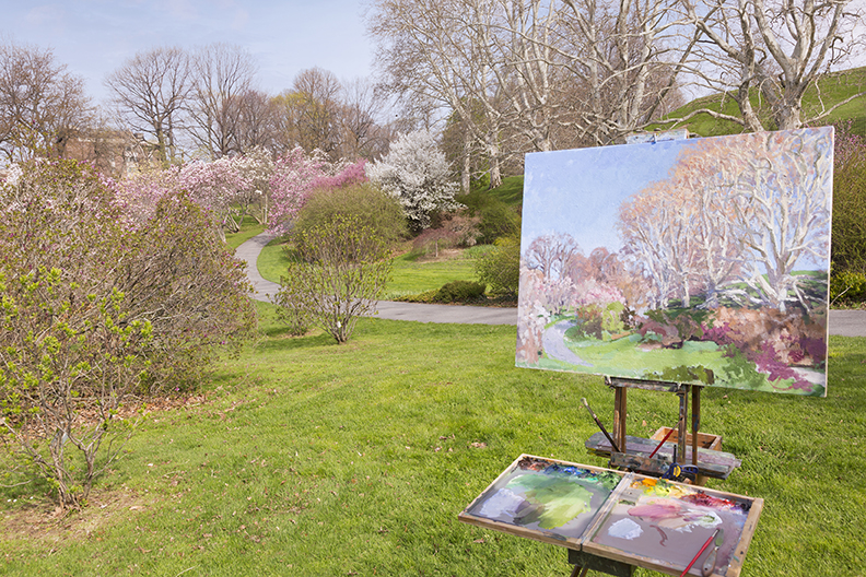 Painting in the Park, Rochester, New York '13-color