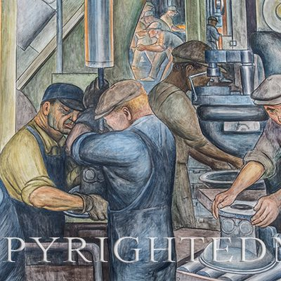 "Diego Rivera Close-up #1, Detroit, MI, ""14"